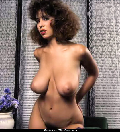 Christie Canyon - Alluring Woman with Alluring Defenseless Natural Dd Size Breasts (Vintage Sexual Photoshoot)