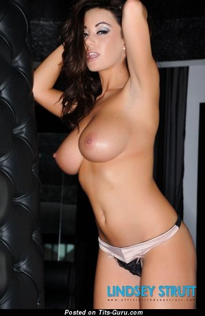 Image. Lindsey Strutt - sexy naked brunette with medium natural boob picture