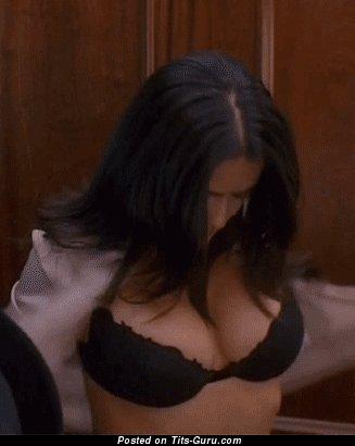 Image. Salma Hayek - naked wonderful female with medium natural boob gif