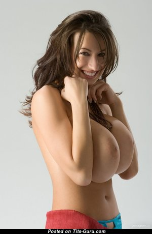 Fascinating Topless Brunette with Fascinating Nude G Size Boob (Hd 18+ Wallpaper)