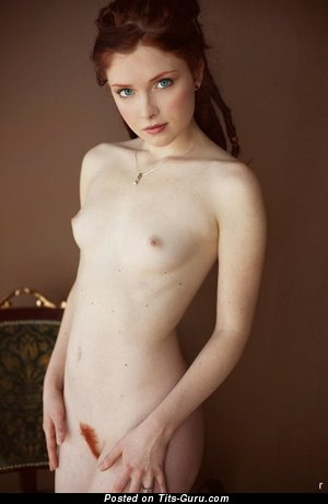 Image. Nude red hair with small boobies photo