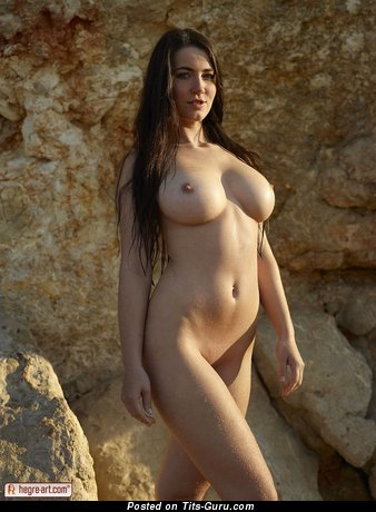 Image. Yara Eggimann - nice woman with big natural boob image
