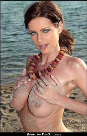 Luisa Rossellini - Pleasing Topless Dame with Pleasing Open Tight Boob (Sexual Picture)