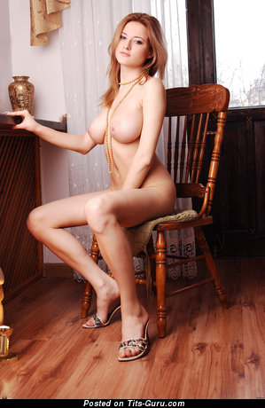 Gerra - Alluring Russian Doxy with Alluring Bald Natural Medium Sized Boobies (Hd Porn Image)