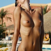Wonderful woman with small natural tittes image