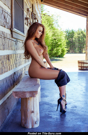 Leanna Decker - Alluring American Red Hair with Alluring Open Real Substantial Melons, Tattoo & Piercing in High Heels (Hd 18+ Pix)