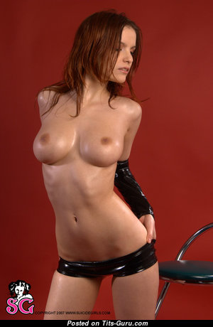 Ulya I - Fine Ukrainian Red Hair with Fine Defenseless Natural Tittes & Long Nipples (Xxx Image)
