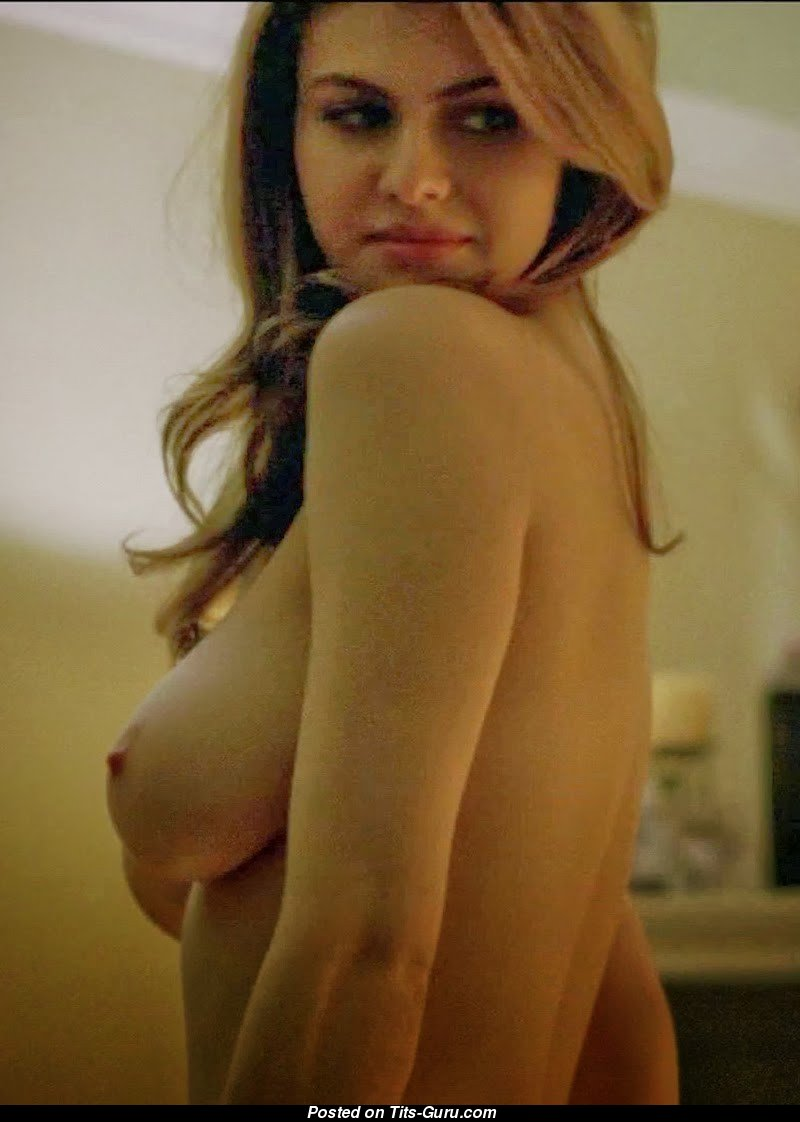 alexandra daddario - sexy naked wonderful woman with natural boobs