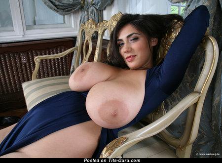 Image. Luna Amor - naked brunette with huge natural tittys photo