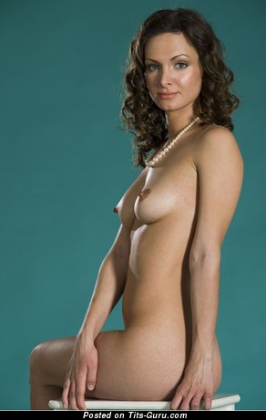 Image. Naked nice female with medium natural boobies picture
