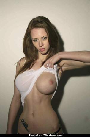 Katarina Olendzskaia - Stunning Glamour & Topless Russian Red Hair with Stunning Exposed Real Boobies & Tattoo is Undressing & Smoking (Xxx Pix)