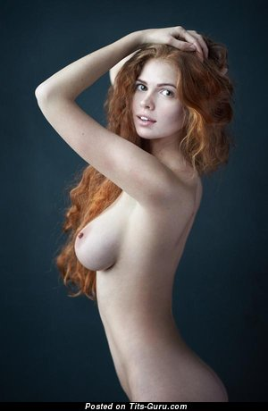 Image. Nude hot woman with medium natural breast image
