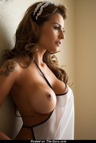 Image. Nude awesome lady with fake tittes image