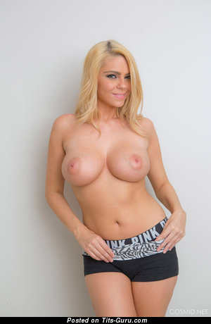 Kylie Kohl - sexy topless blonde with medium natural tittes image