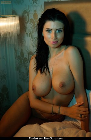 Appealing Glamour Babe with Appealing Exposed Normal Tittes & Long Nipples (Hd Porn Image)