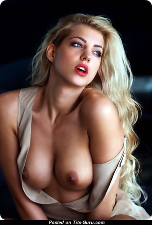 Sarah Nowak - Magnificent American Playboy Blonde Babe with Magnificent Naked Silicone Tots (18+ Photoshoot)