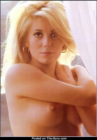 Catherine Deneuve - Beautiful Blonde Actress with Beautiful Defenseless Real Regular Tittys (Vintage 18+ Picture)