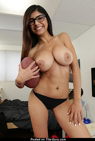 Image. Naked brunette with big boob picture