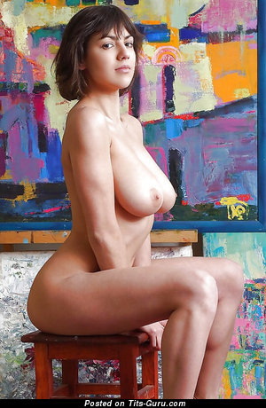 Image. Nude hot lady with natural boobs image