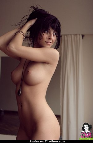 Image. Brunette with medium natural tittys pic