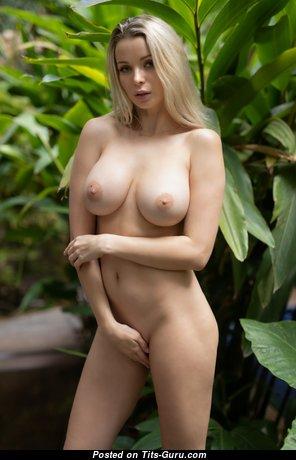 Ekaterina Enokaeva - Charming Russian Blonde with Charming Bald Real Mid Size Boobs & Long Nipples (Hd Porn Pix)