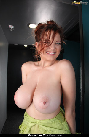 Image. Tessa Fowler - nude red hair with big natural boobs pic