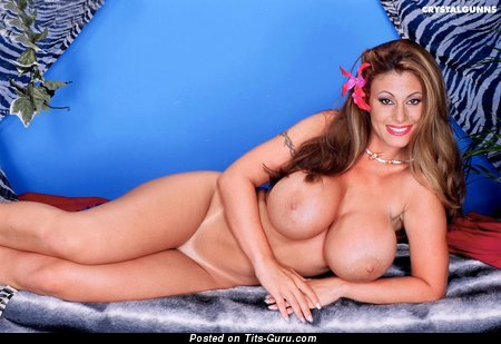 Crystal Gunns - naked awesome lady with big fake breast photo