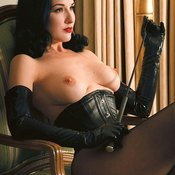 Dita Von Teese - amazing lady with medium natural tots pic