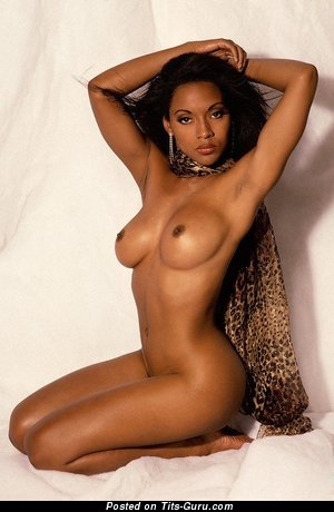 Image. Sexy naked ebony with medium natural boobs picture