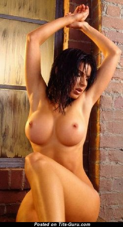 Carolee Bass - Lovely Topless American Brunette Babe with Lovely Exposed Normal Busts (18+ Photo)