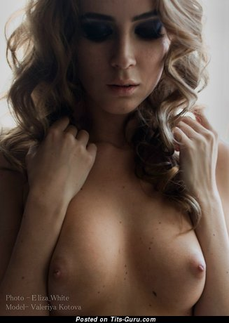 Image. Sexy naked blonde with natural boobs pic
