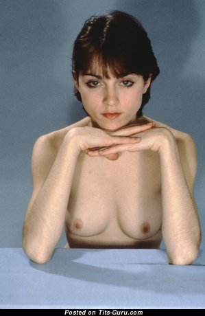 Delightful Topless Dish with Delightful Exposed Mid Size Boobs (Vintage Xxx Photoshoot)