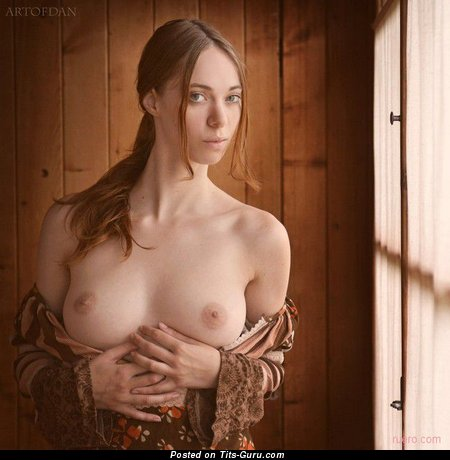 Image. Nice woman with medium natural boobies photo