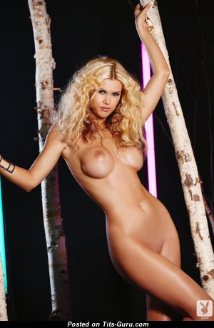 Fine Topless & Glamour Playboy Blonde with Erect Nipples, Sexy Legs (Hd Porn Image)