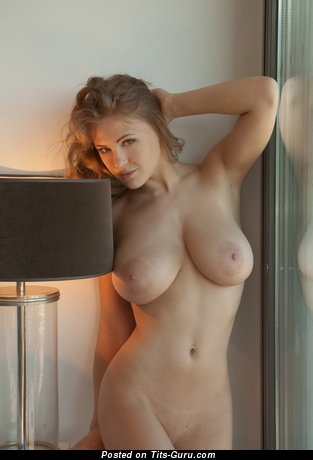 Naked beautiful girl with big natural boobs image