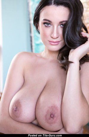 Dazzling Babe with Dazzling Bare Real Firm Jugs & Big Nipples (Porn Picture)