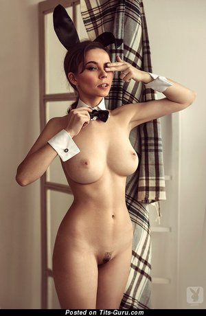 Ksenia Egorova - sexy topless brunette with medium tittys and big nipples picture
