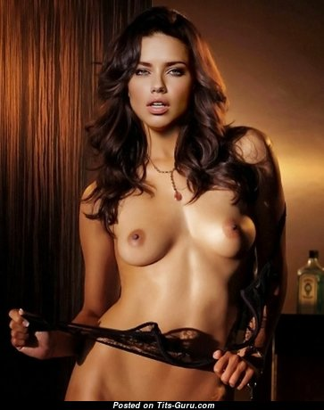 Superb Topless & Glamour Brunette with Puffy Nipples is Undressing (Hd Porn Foto)