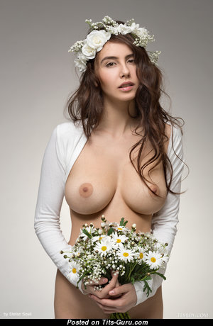 Fascinating Brunette Bride with Stunning Exposed Real Firm Boob (4k Porn Pic)