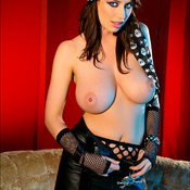 Sophie Howard - topless brunette with big natural tittys image