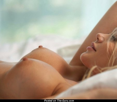 Image. Sexy nude blonde with big fake tittes photo