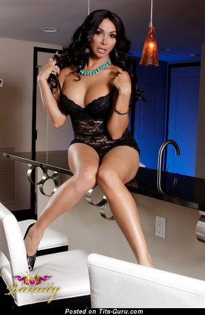 Vaniity - Magnificent Brunette with Magnificent Naked H Size Titties in Lingerie (18+ Image)