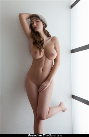 Image. Naked amazing woman with big natural boobs photo