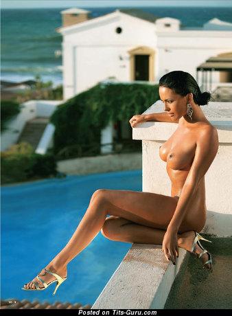Image. Dasha Astafieva - sexy naked brunette with medium boobs image