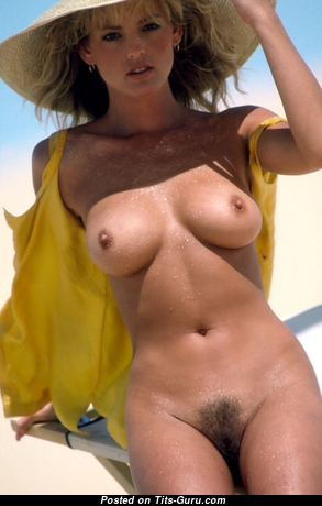 Lynne Austin - Cute Topless American Playboy Blonde with Cute Nude Natural Med Boob (Vintage 18+ Photoshoot)