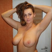 Awesome lady with big natural tittes photo