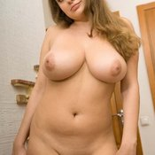 Hot female with big natural tits photo