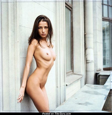 Image. Sexy topless brunette photo