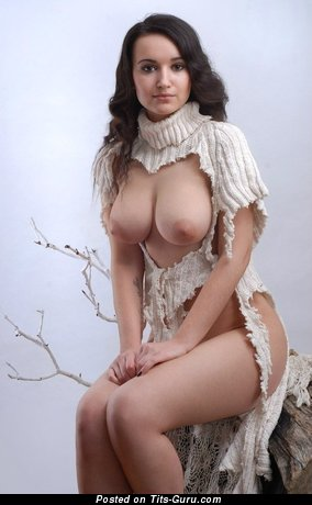 Image. Naked hot lady with big natural boob photo