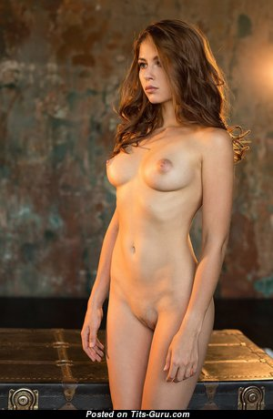 Elegant Brunette Babe with Good-Looking Defenseless Natural C Size Boobs (Hd Sex Pix)